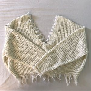 Cropped over sized sweater